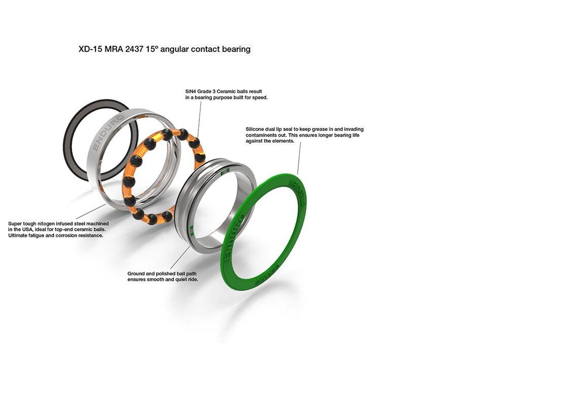 Option XD15 Enduro ceramic hybrid bearings - RAR - Roues ARtisanales hautes  performances françaises